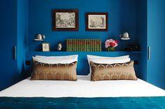 Clic French Interior Decor With A Modern Twist Bright Blue Bedroomsblue