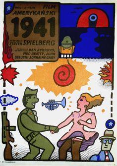 1941   Original Polish movie poster   American film   director: Steven Spielberg   actors: John Belushi, Ned Beatty, Dan Aykroyd, Lorraine Gary   designer: Jan Mlodozeniec   year: 1982   size: B1
