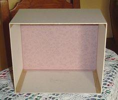 Tutoriel bo te en carton assemblage partie 1 cr er ses meubles en carton cartonnage - Tutoriel meuble en carton ...