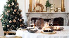 Coup d'oeil sur les tendances de Noël 2016 Gold Christmas, Xmas, Magazine Deco, Christmas Tree Decorations, Holiday Decor, Diy Décoration, Deco Table, Decoration Table, Christmas Inspiration