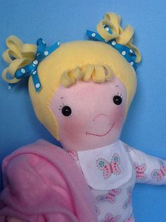 PDF Cloth Rag Doll Pattern Baby Sister Great Easy by PeekabooPorch