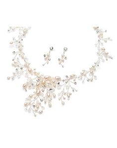 USABride Natalia Pearl Jewelry Set JS-621 Wedding Jewelry - The Knot