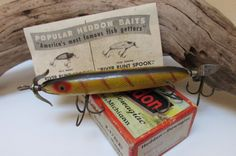 Heddon Vintage Fishing Lure Torpedo 130L Free by VentureUs on Etsy, $68.00