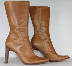 Womens Steve Madden Boots / Brown Tall Leather Fashion Knee High Boots / Size 9
