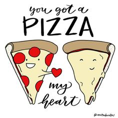 Here's something to lighten up your day. Doodle made by Anitadoodles. ❤️ #makeena #pizza #doodle