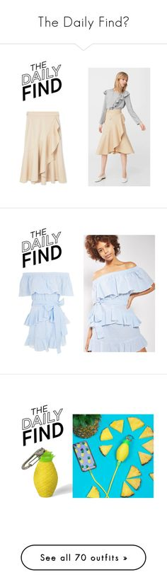 """""""The Daily Find🖤"""" by angelina-castillo05 ❤ liked on Polyvore featuring MANGO, DailyFind, Topshop, Kate Spade, Bing Bang, Skinnydip, River Island, LoveShackFancy, Crap and beauty"""