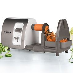 Learn to cook the healthy way with the Salter Electric Spiralizer. This easy to use food preparation device is great for salads and stir-fries or as a healthier alternative to pasta, noodles and french fries. | eBay!