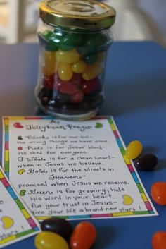 """Jelly Bean Prayer""....Gift in a Jar for Easter"