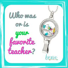 Who are or were the teachers in your life or your children's who made a difference? Teacher appreciation gift by Origami Owl. Lanyard to wear her story www.nancypye.origamiowl.com