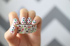 Washi tape inspired nails