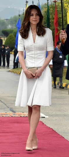 Duchess Kate: Kate in McQueen and Necklace from Queen Jetsun for Bhutan Farewell