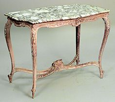 French Louis XV table center table bleached