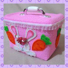 Pote de sorvete decorado com coelhinho e cenourinhas - Drika Artesanato - Dicas e sugestões sobre artesanato.
