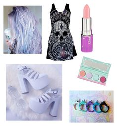 """Pastel goth #3"" by kyleigh-rodgers on Polyvore featuring Lime Crime"