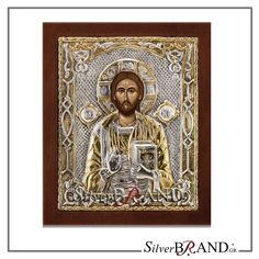 Silver Saints icons and themes in a variety of designs and sizes. All are replicas of Byzantine icons, silver with local gold plating with gold and specially treated to remain unaltered the brilliance of metal. Christ Pantocrator, The Birth Of Christ, Byzantine Icons, Last Supper, Russian Art, Virgin Mary, Greek, Statue, Canvas