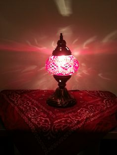Red Mozaic Lamp