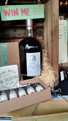 A goliath, 4.5 litre bottle of Foxdenton Sloe Gin. To be won.
