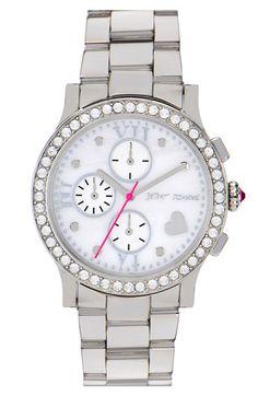 """Betsey Johnson """"Bling Bling"""" bracelet watch."""