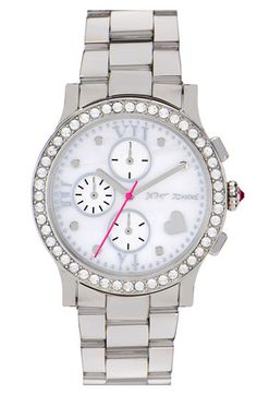 "Betsey Johnson ""Bling Bling"" bracelet watch."