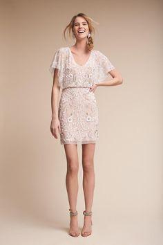 Champagne Biltmore Dress   BHLDN - SIZE 0