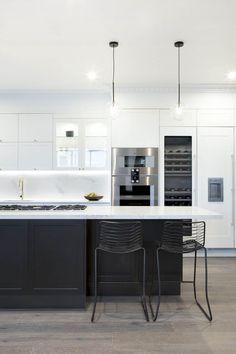 37 Gorgeous Black And White Kitchen Design Home Design White Kitchens BLACK Design Gorgeous Home Kitchen white
