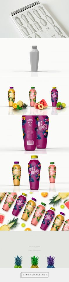 Tiki Juices (student project) packaging design by Yolanda Sabuz & Elena Lobera - https://www.packagingoftheworld.com/2018/04/tiki-juices.html