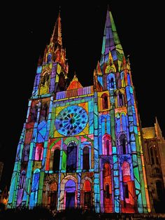 Chartres Cathedral in colors