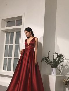 rote Ballkleider lang- red prom dresses long rote Ballkleider lang - The Effective Pictures We O V Neck Prom Dresses, Prom Dresses For Sale, Satin Dresses, Ball Dresses, Evening Dresses, Bridesmaid Dresses, Red Satin Prom Dress, Long Dresses, Dress Red