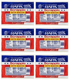 RAPA Scrapple with Bacon 16 Oz 6 Pack ** Continue to the product at the image link.