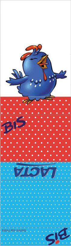 Galinha Pintadinha Vermelho e Azul – Kit festa infantil grátis para imprimir – Inspire sua Festa ®