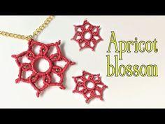 Macrame pendant tutorial: The apricot blossom - YouTube