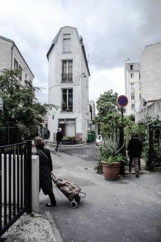 Fin gata! 20 arr, nära park de Belleville där  Mokkasin: på landet mitt i Paris.