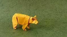 Оригами схема медведя