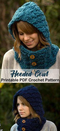 Make a cozy cowl. cowl crochet pattern- scarf crochet pattern pdf - amorecraftylife.com #crochet #crochetpattern