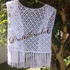 Pretta Crochet: Colete de crochet com franjas