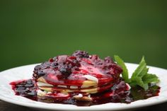 Triple Berry Pancakes With Cream Cheese Filling |  Tasty Kitchen: A Happy Recipe Community!