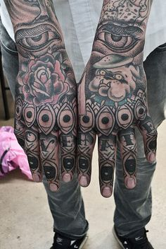 Thomas Hooper Eye Finger Hand Tattoo