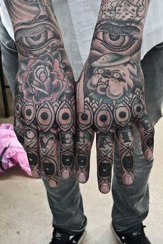 Thomas Hooper Eye Finger Hand Tattoo