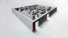 Drawing a 3-D maze using two point perspective