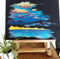 acrylic painting clouds Painting Clouds, Artwork, Work Of Art