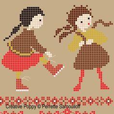 Perrette Samouiloff - Getting dressed (cross stitch pattern)