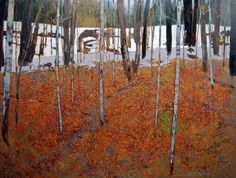 "Contemporary Painting - ""birch forest"" (Original Art from David Lidbetter)"