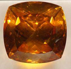 Orange sphalerite gemstone