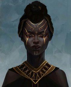 black art - Famous Last Words Black Art, Black Girl Art, Black Women Art, Art Girl, Fantasy Kunst, Fantasy Art, African American Art, African Art, Character Portraits