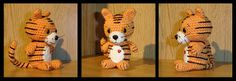 Crocheted Tiger.(Scroll down the Page for the Pattern)