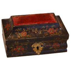 Lacquered - Italian - Red Velvet - what is not to love about that?! A sewing box with centuries of stories to tell (18thC origin!)