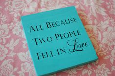 Hand Painted 7x7 Solid Wood Sign Plaque with LOVE Quote - Great Idea for Decor at your Wedding or Bridal Shower $10
