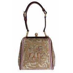 Dolce & Gabbana Dolce & Gabbana AGATA Silk Python LION Print Shoulder Hand Bag