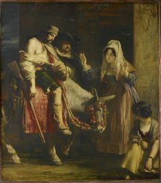 Sir David Wilkie (1785-1841), The Guerilla's Return. Signed and dated 1830. Oil on panel, 95.0 x 84.5 cm. RCIN 405093. Royal Collection Trust/© Her Majesty Queen Elizabeth II 2015
