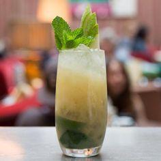 """."""" Sipsmith vodka, ginger syrup, apple schnapps, fine sea salt, basil ..."""